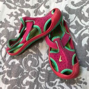 Girls Nike water shoes
